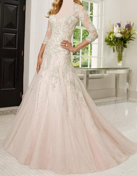 لباس عروس آستین کوتاه,مدل لباس عروس